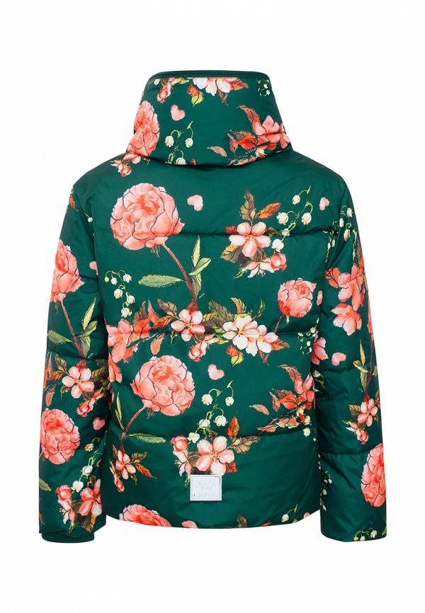 Куртка для девочки утепленная Смена цвет зеленый  Фото 2