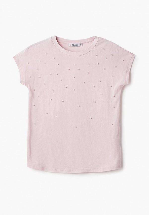 футболка incity для девочки, розовая