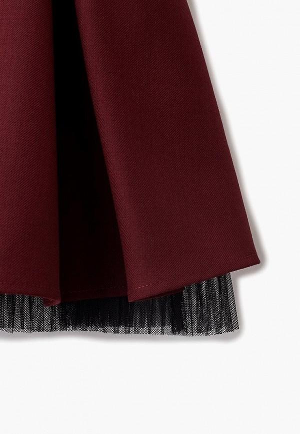 Юбка для девочки Смена цвет бордовый  Фото 3