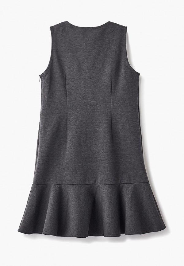 Платья для девочки Смена цвет серый  Фото 2