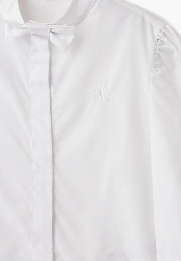 Блуза Смена цвет белый  Фото 3