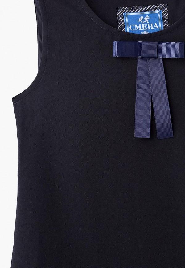 Платья для девочки Смена цвет синий  Фото 3