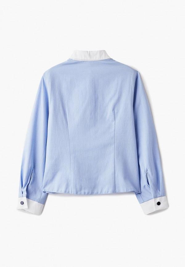 Рубашка для девочки Смена цвет голубой  Фото 2