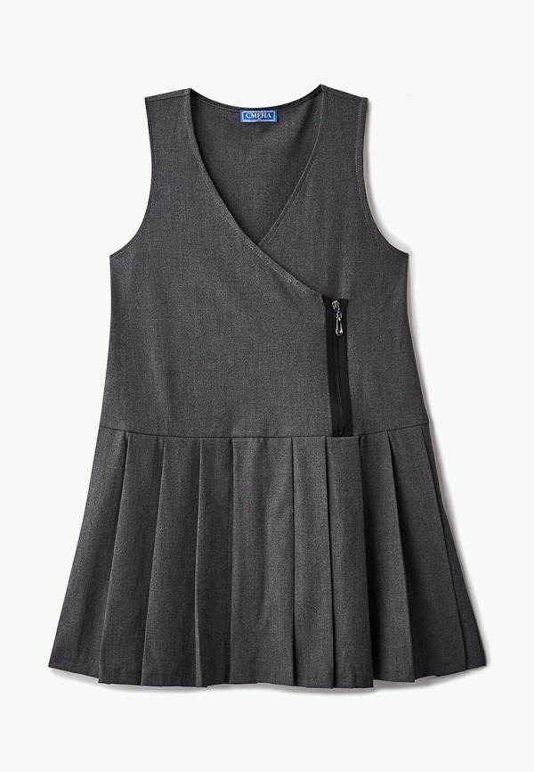 Платья для девочки Смена цвет серый