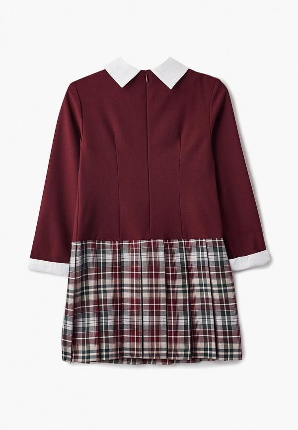 Платья для девочки Смена цвет бордовый  Фото 2