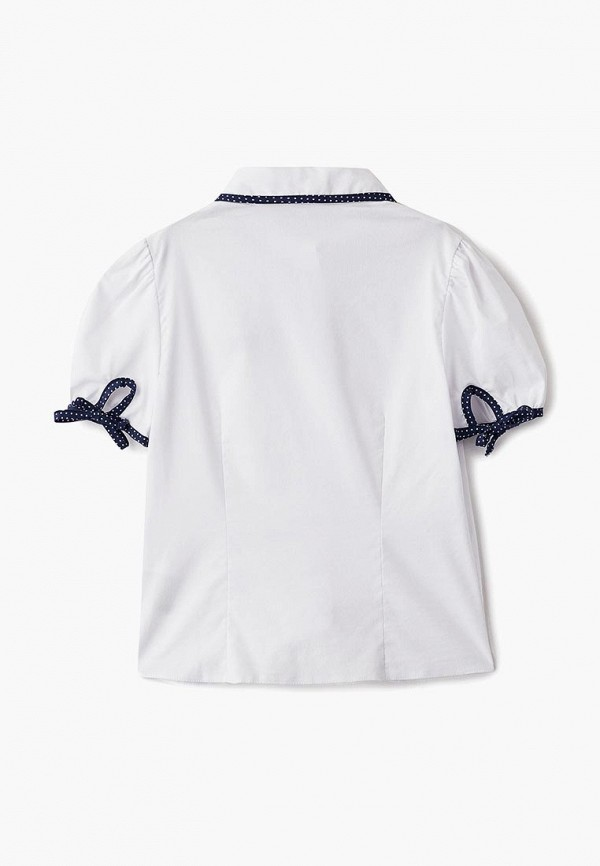 Блуза Смена цвет белый  Фото 2
