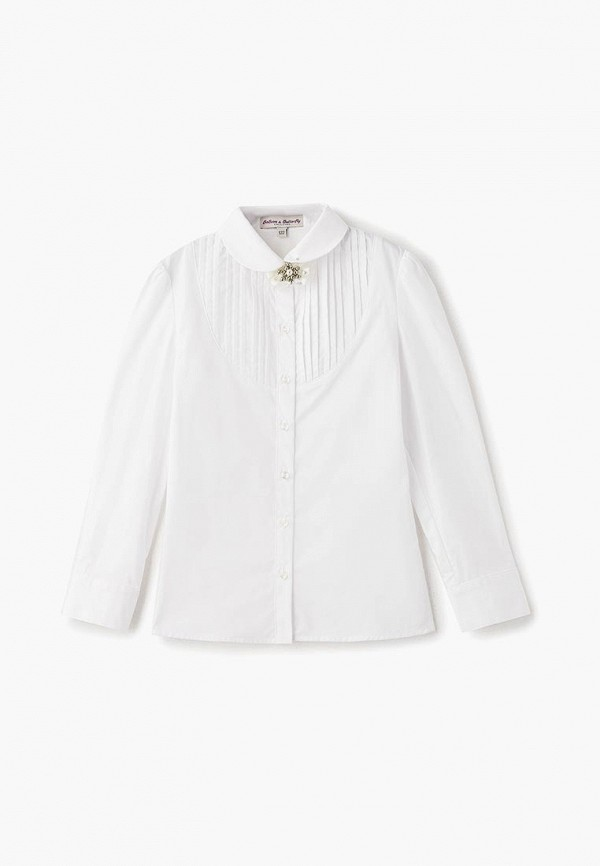 рубашка balloon & butterfly для девочки, белая