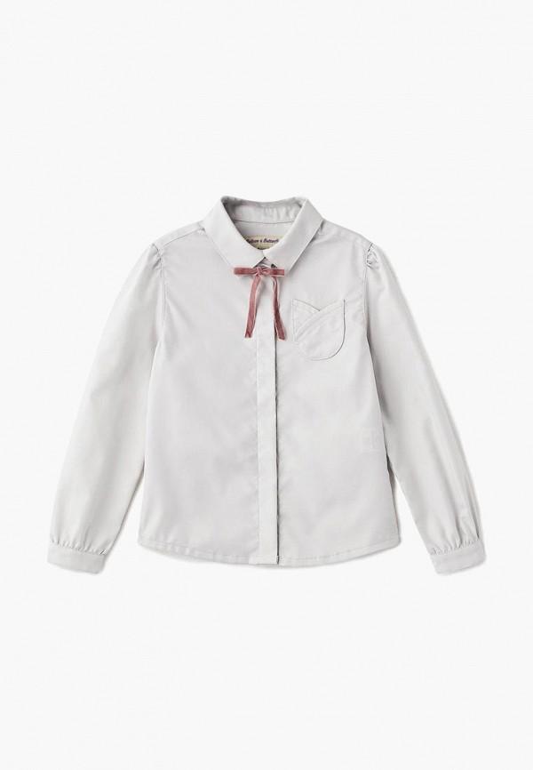 рубашка balloon & butterfly для девочки, серая