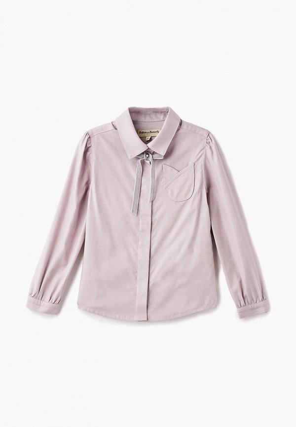 рубашка balloon & butterfly для девочки, розовая
