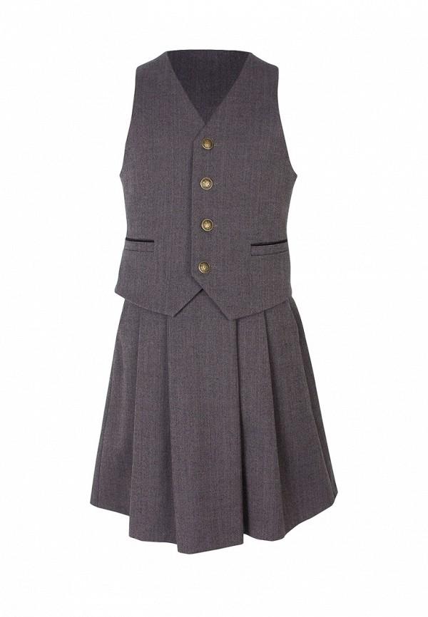 костюм смена для девочки, серый