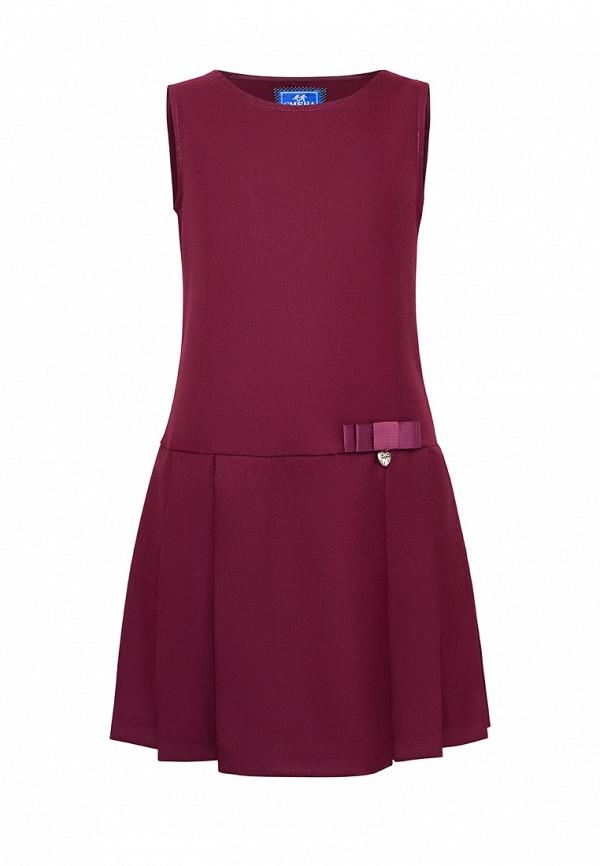 Платья для девочки Смена цвет бордовый