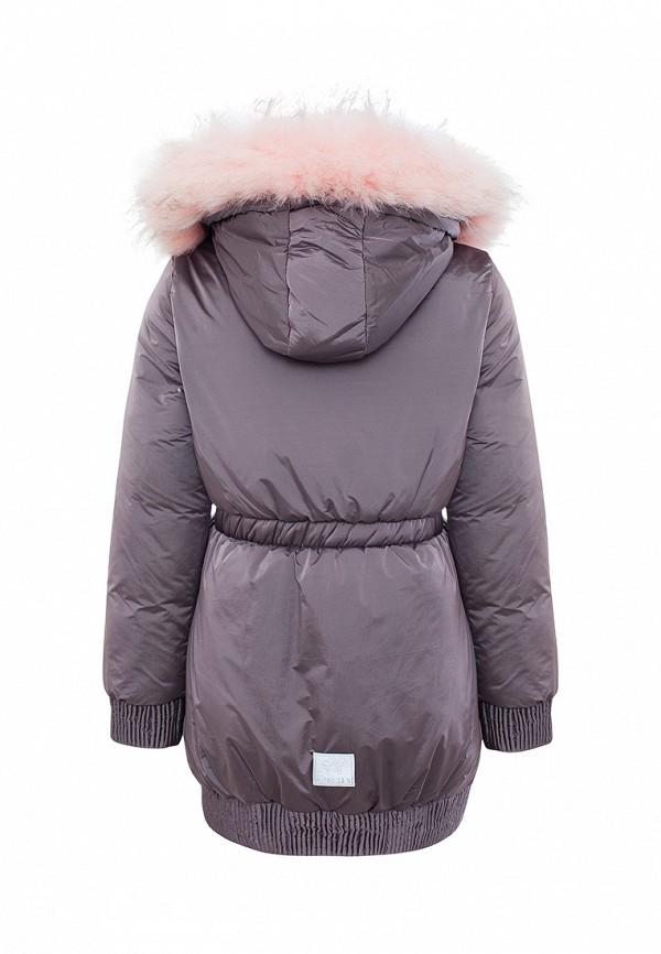 Куртка для девочки утепленная Смена цвет фиолетовый  Фото 2