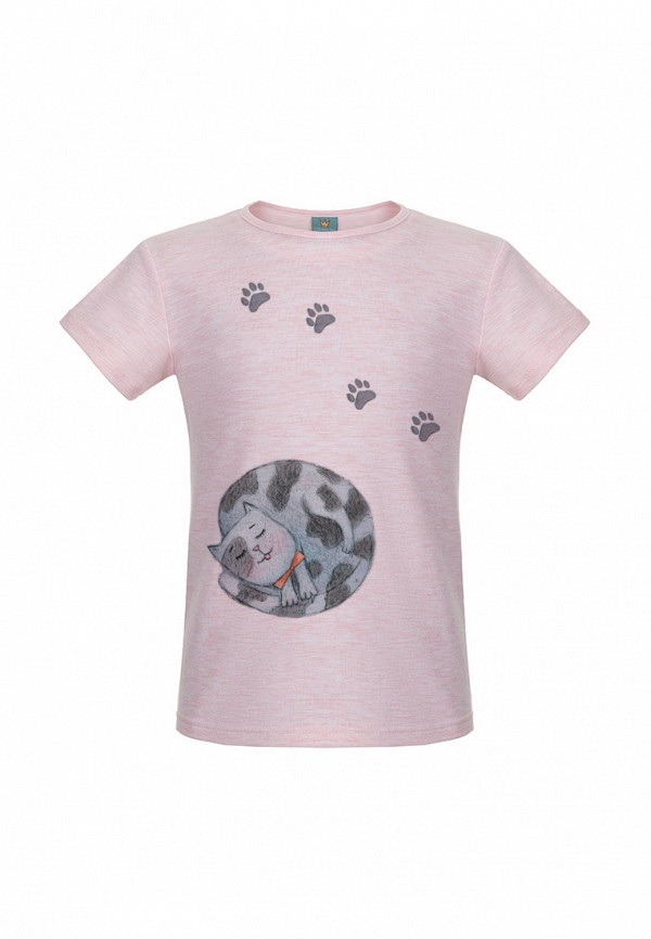 футболка с коротким рукавом lisa&leo для девочки, розовая