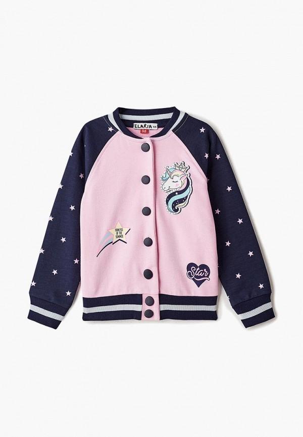 олимпийка elaria для девочки, розовая