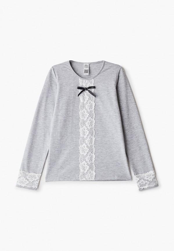 блузка vikki-nikki для девочки, серая