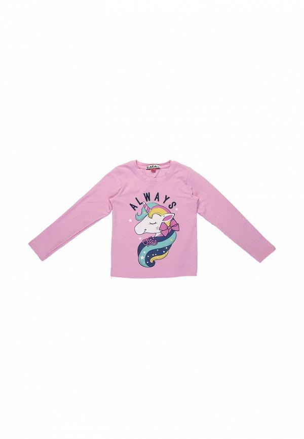 лонгслив elaria для девочки, розовый