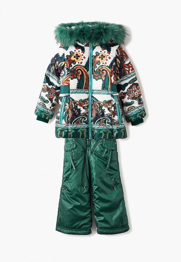 костюм mes ami для девочки, зеленый
