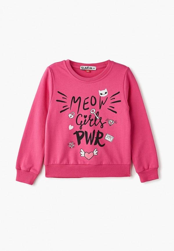 свитшот elaria для девочки, розовый