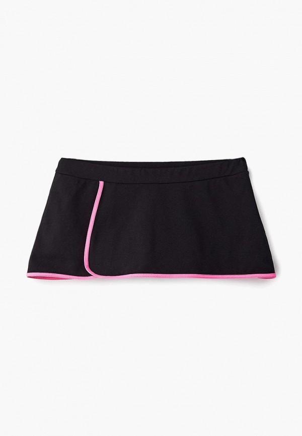 юбка черса для девочки, черная