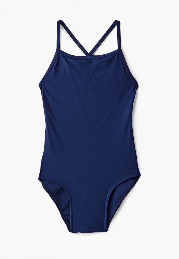 купальник черса для девочки, синий