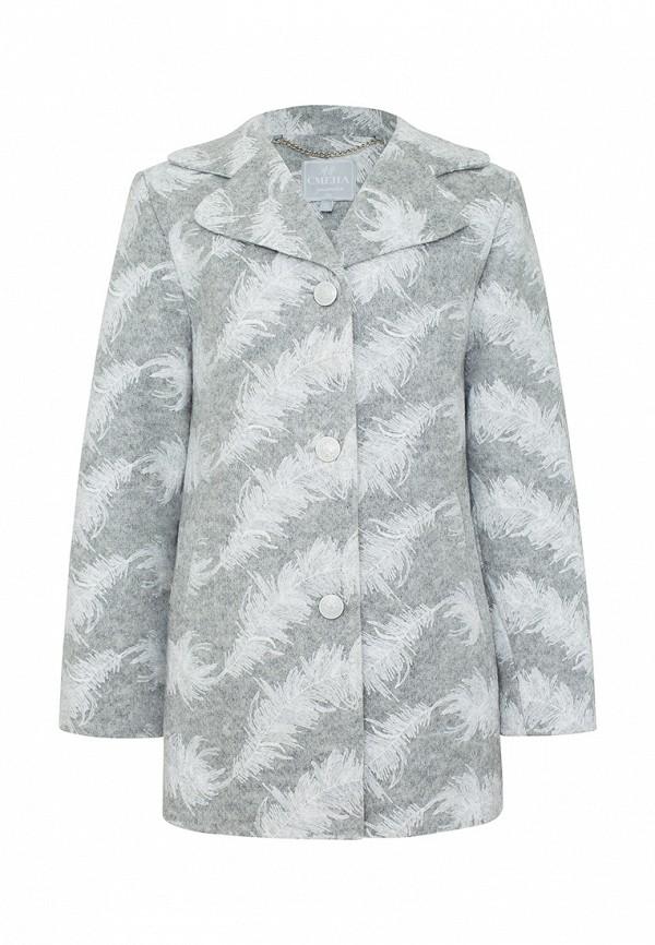 Пальто Смена Смена MP002XG00E8K смена смена пальто серое в полоску