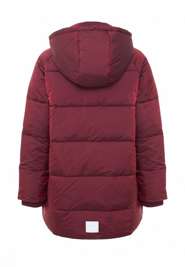 Куртка для девочки утепленная Смена цвет бордовый  Фото 2