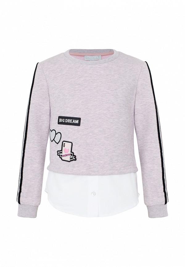 свитшот смена для девочки, розовый