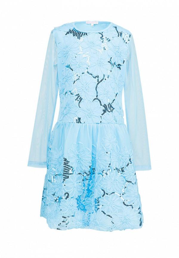 платье красавушка для девочки, голубое