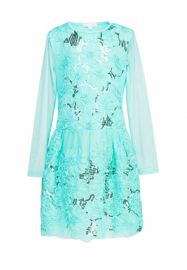 платье красавушка для девочки, бирюзовое