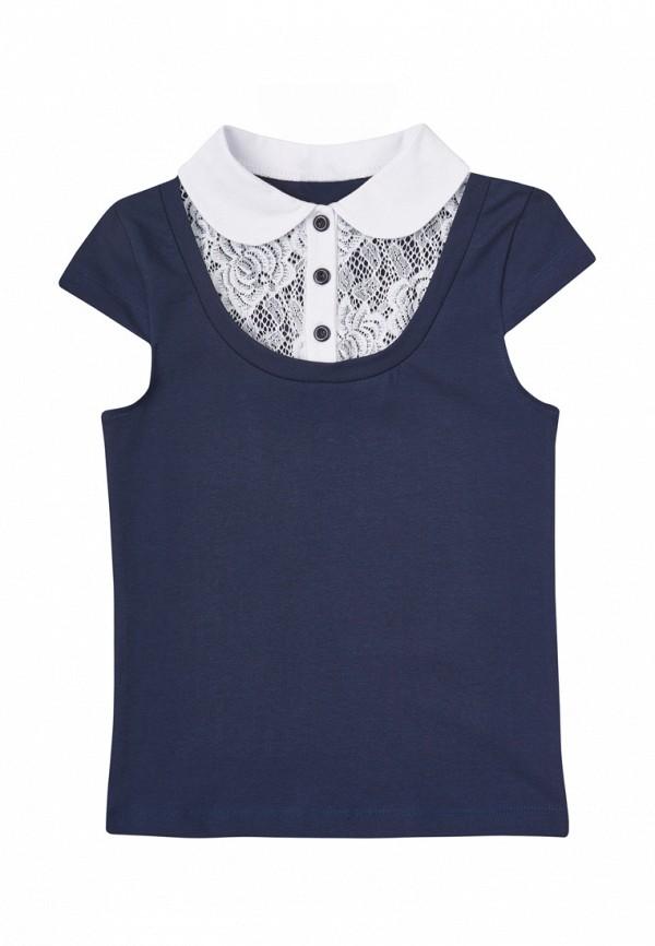 блузка vidoli для девочки, синяя