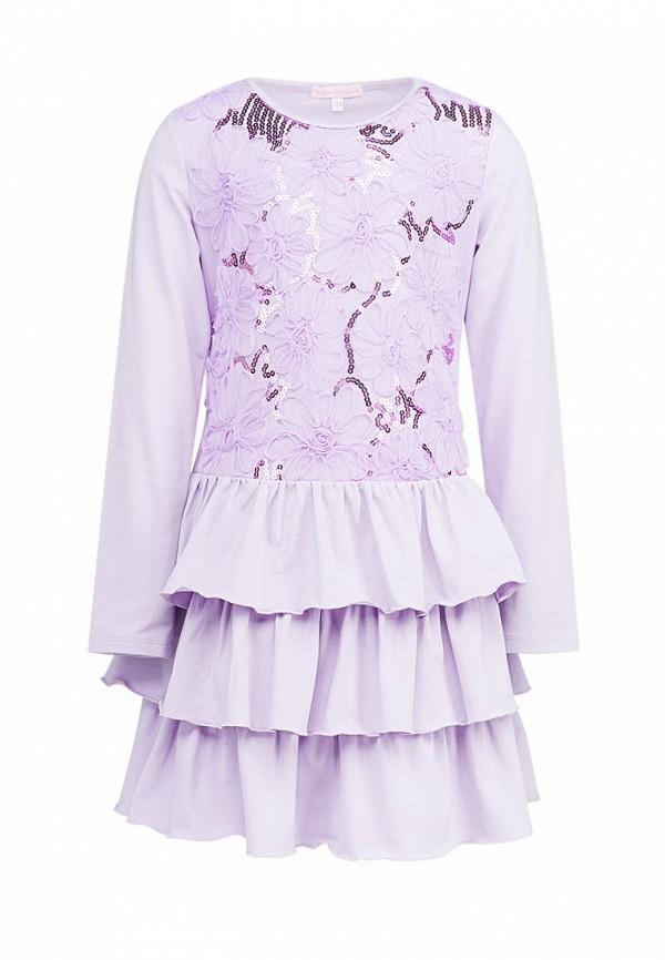 платье красавушка для девочки, фиолетовое