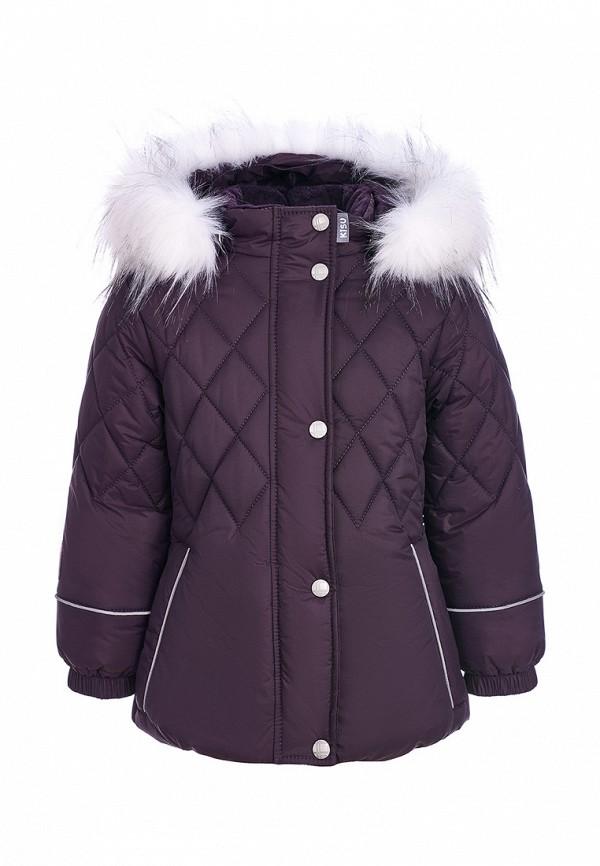 куртка kisu для девочки, фиолетовая