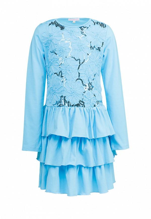 повседневные платье красавушка для девочки, голубое