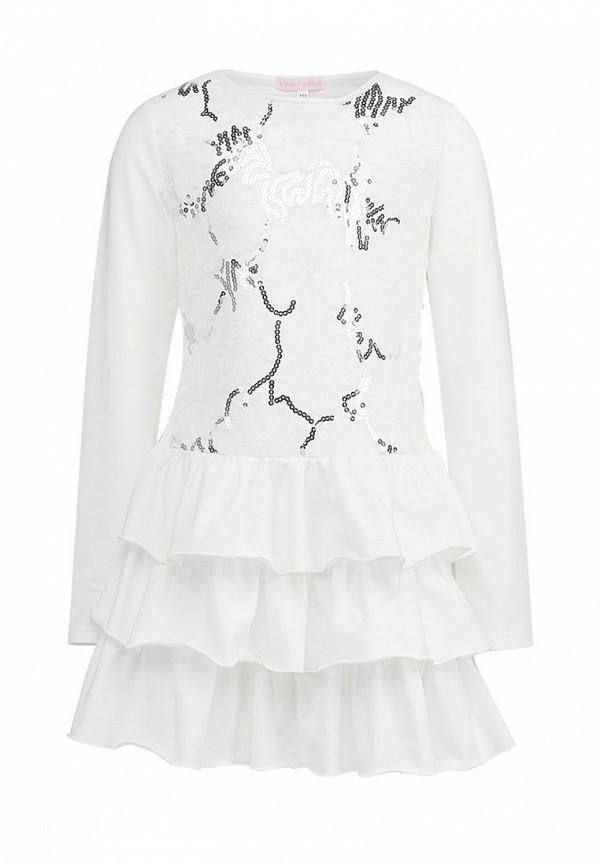 повседневные платье красавушка для девочки, белое