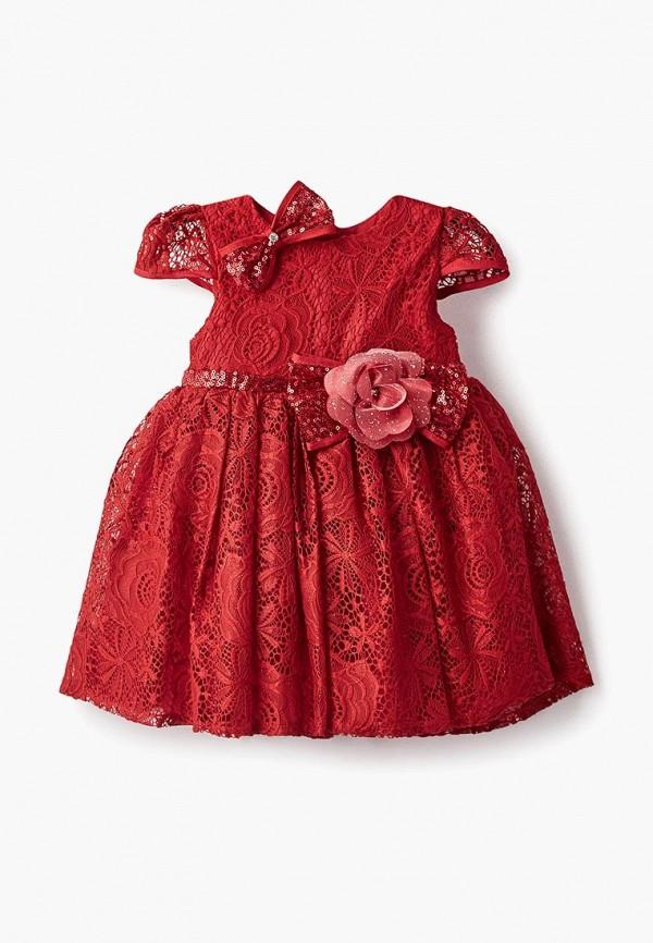 платье mili для девочки, красное