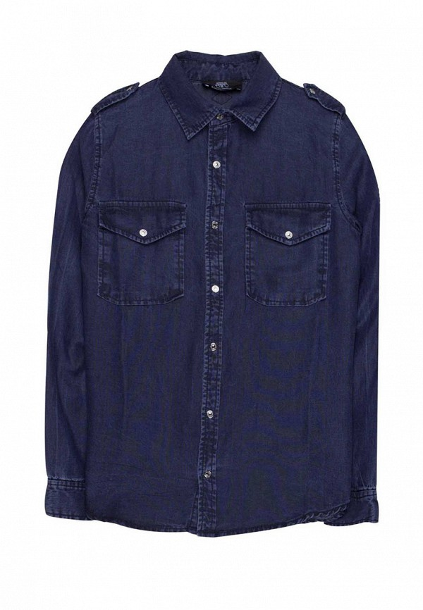 джинсовые рубашка le temps des cerises для девочки, синяя