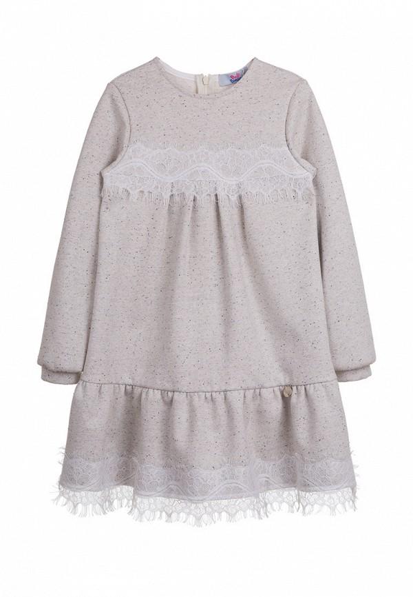 повседневные платье bell bimbo для девочки, серое