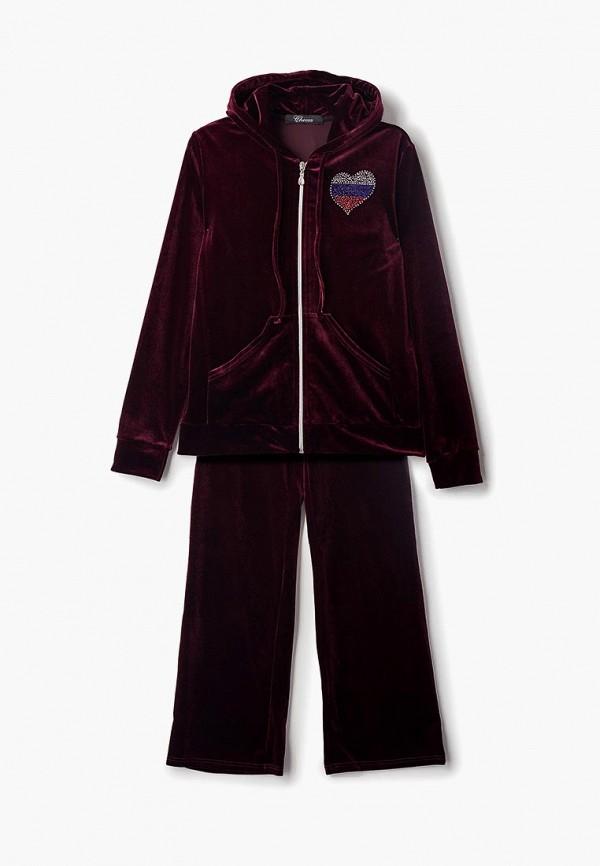 спортивные спортивный костюм черса для девочки, бордовый