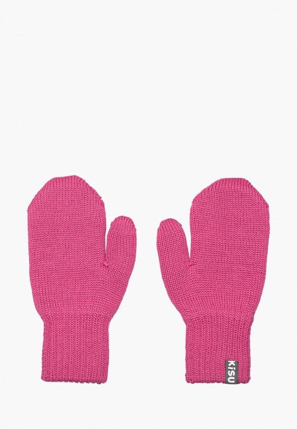 варежки kisu для девочки, розовые