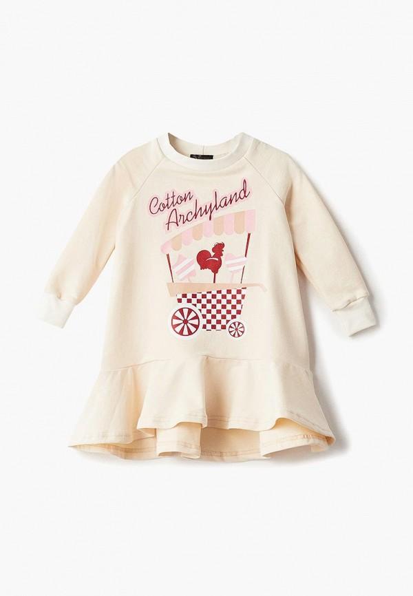 повседневные платье archyland для девочки, бежевое