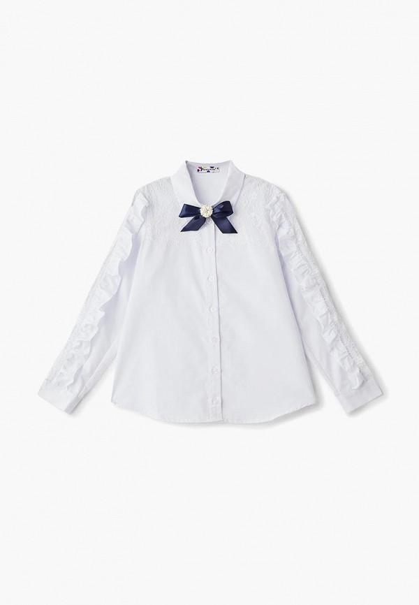 блузка panda kids для девочки, белая