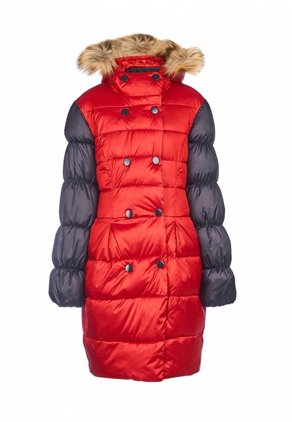 куртка oldos для девочки, красная