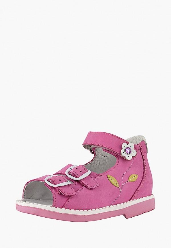 сандалии reike для девочки, розовые