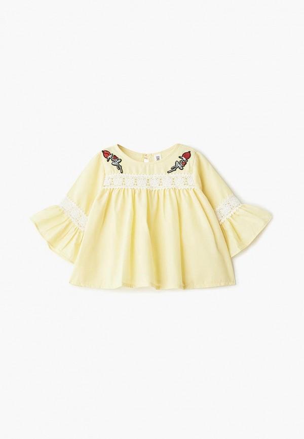 блузка infunt для девочки, желтая