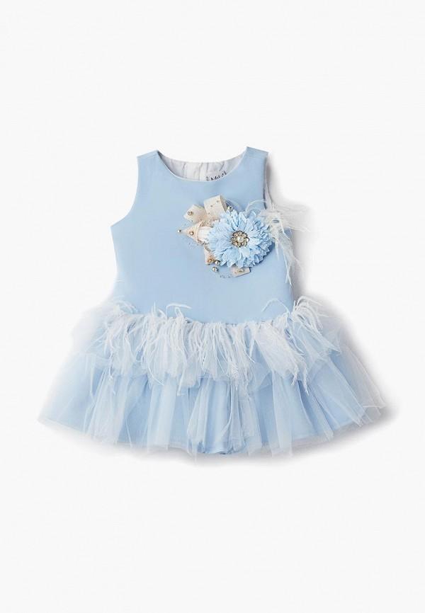 платье mili для девочки, голубое