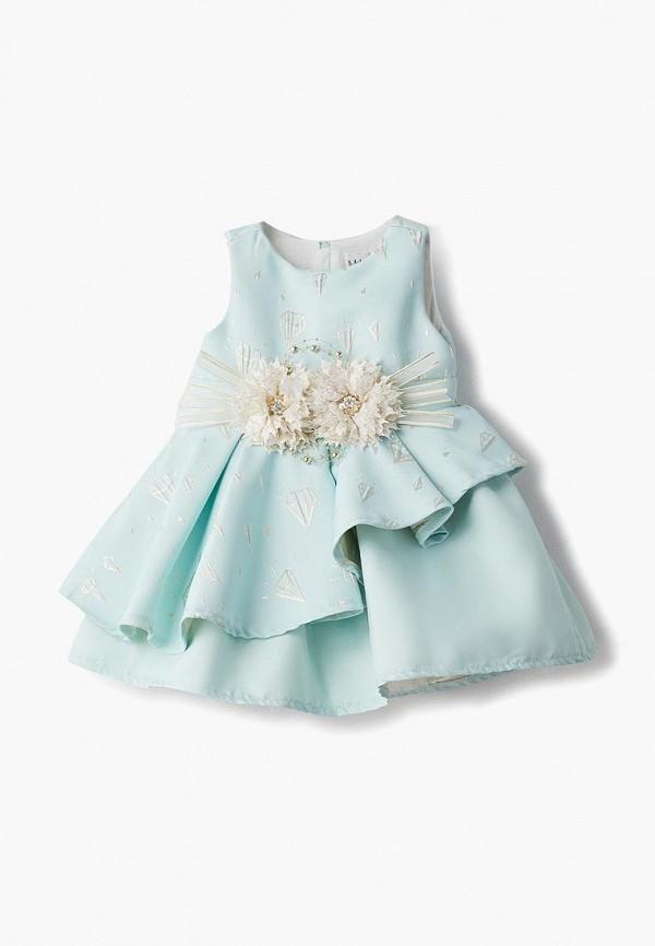 платье mili для девочки, бирюзовое