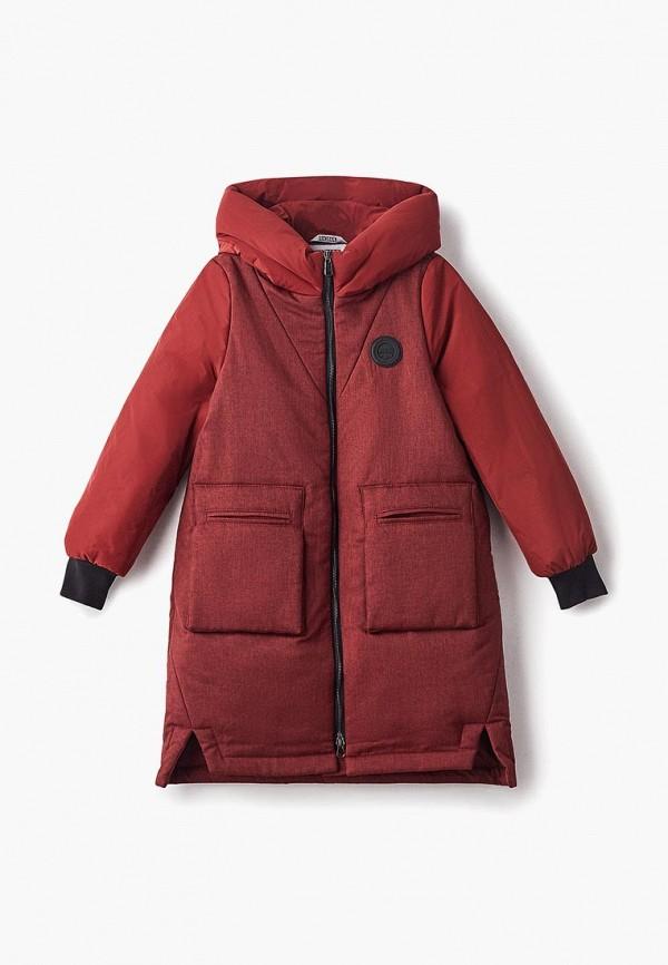 куртка rionakids для девочки, бордовая