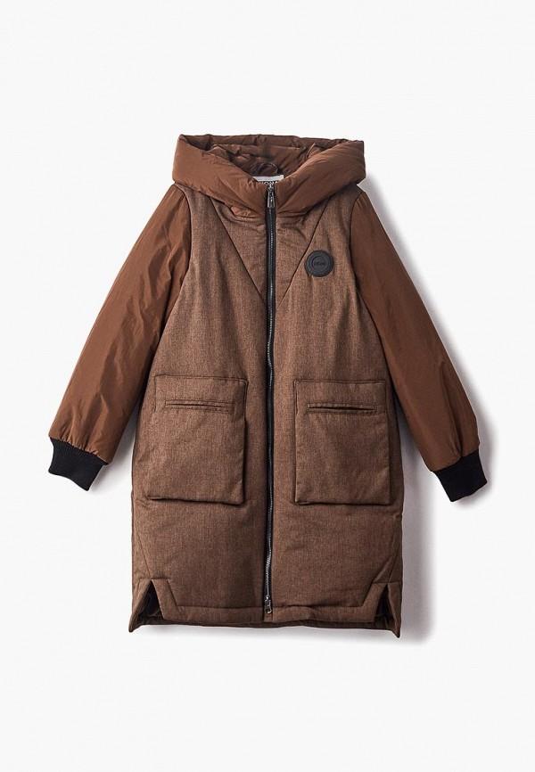 куртка rionakids для девочки, коричневая