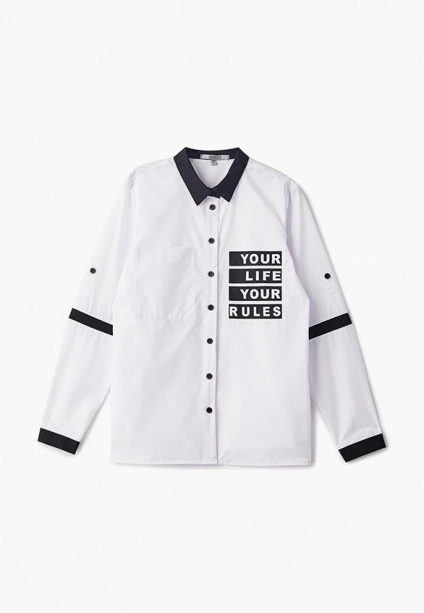 рубашка rionakids для девочки, белая