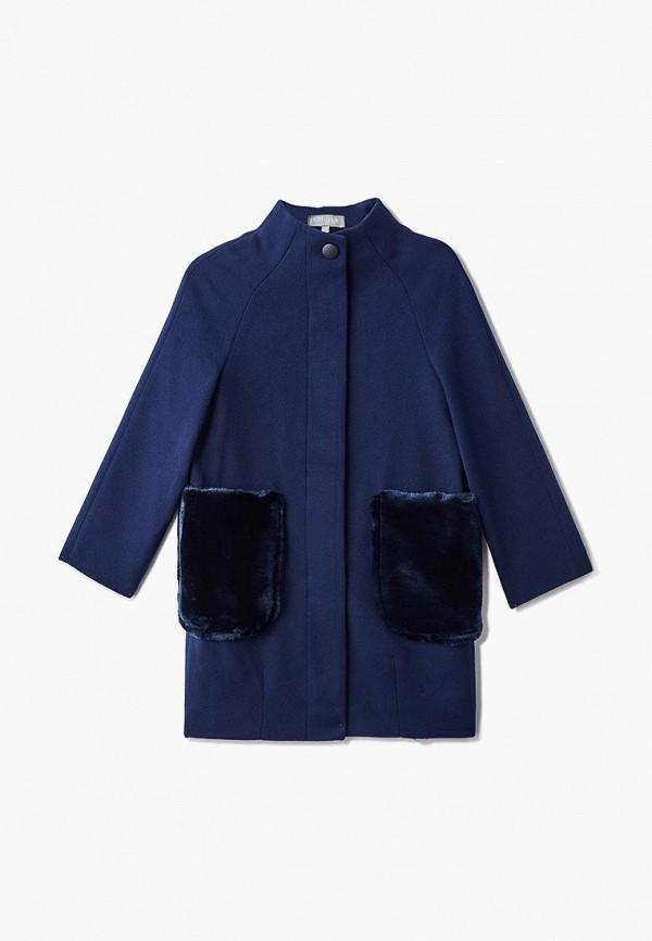пальто смена для девочки, синее